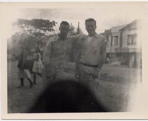 My grandpa Donald Hickman (on the left) in the Philippines in the 1950s.