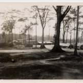 """""""Post office. M.C.B. and Regiment offices and galley from hill by barracks Cubi Point P.I."""""""