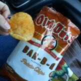These were purchased at a gas station somewhere in Wisconsin or Minnesota. Mediocre chip and boring flavor. Not bad, but not something worth seeking out either.