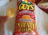 "2015 road trip chip purchased at a grocery store in Van Buren, Arkansas. The manufacturer is a Kansas company. These chips had a lackluster crunch and the flavor tasted funky. I'm way too mean about Kansas (as I'm sure there's something there I would love but haven't seen yet), but these chips taste the way west Kansas smells (rhymes with ""moo"")."